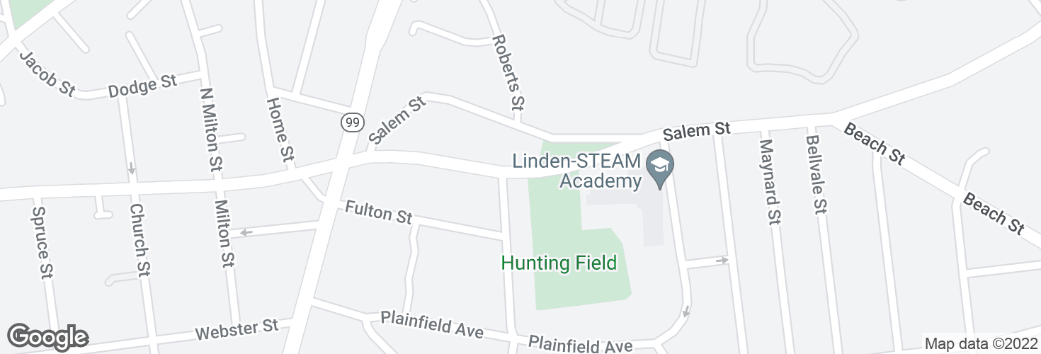 Map of Hunting St @ Coleman St and surrounding area