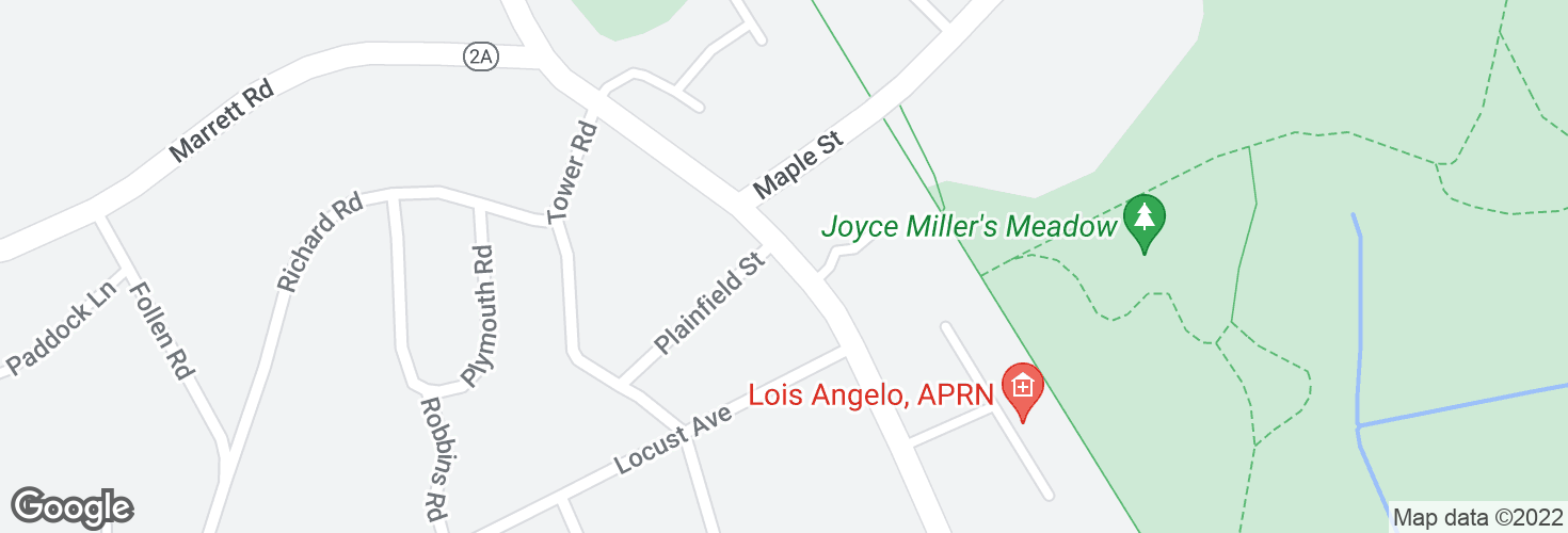 Map of Massachusetts Ave @ Plainfield St and surrounding area