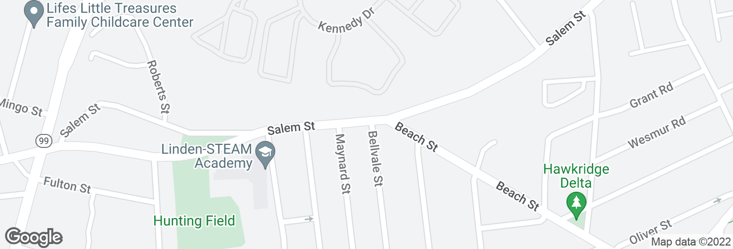 Map of Salem St @ Bellavale St and surrounding area