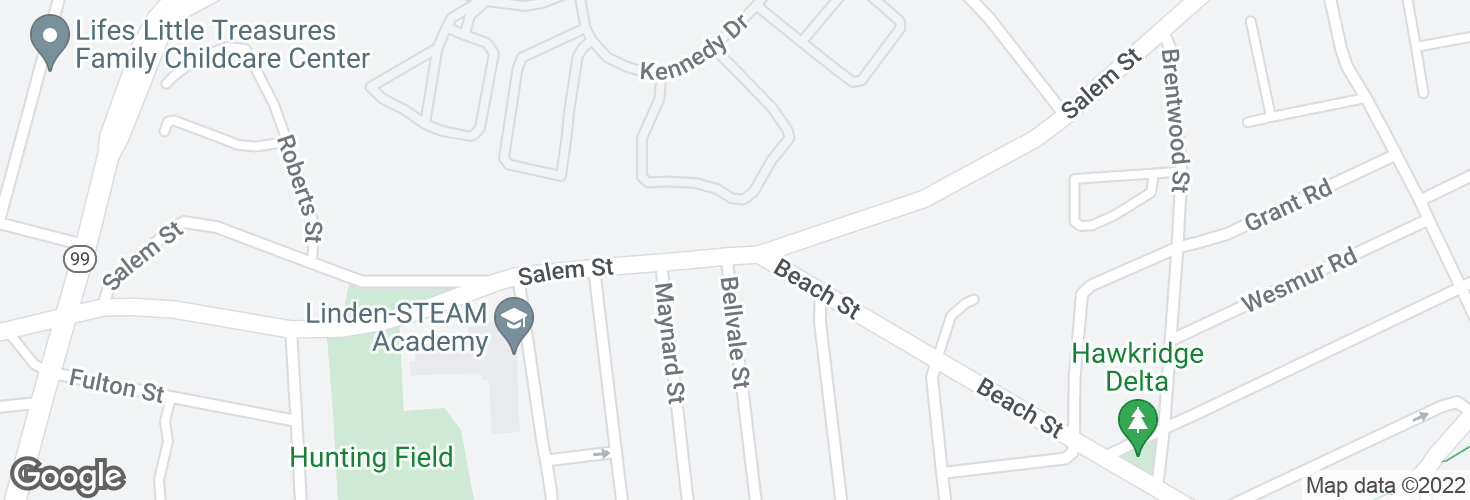 Map of Salem St opp Bellavale St and surrounding area