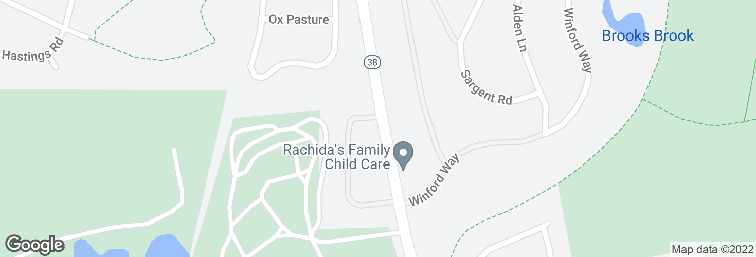 Map of Winthrop St @ Robinson Rd and surrounding area