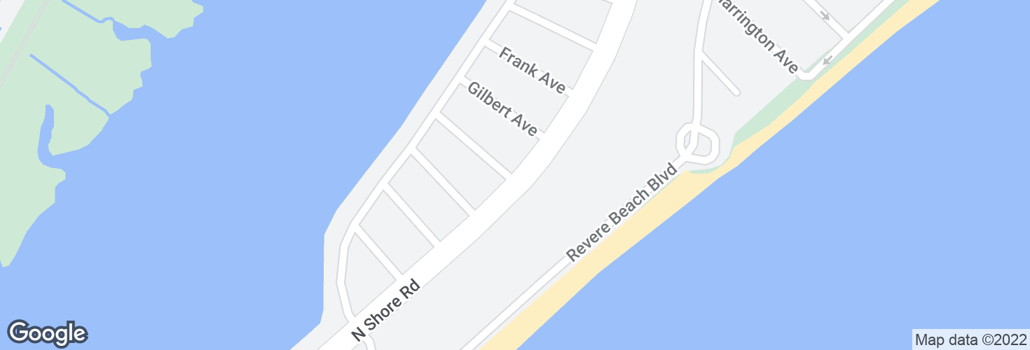 Map of N Shore Rd @ Blanchard Ave and surrounding area