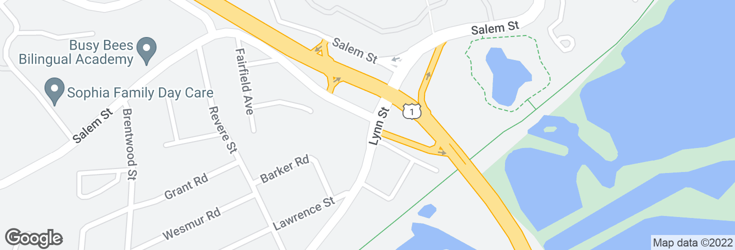 Map of Salem St @ Lynn St and surrounding area