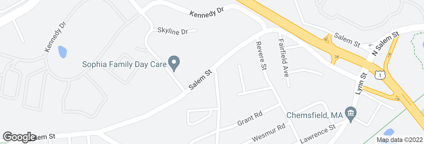 Map of Salem St @ Brentwood St and surrounding area