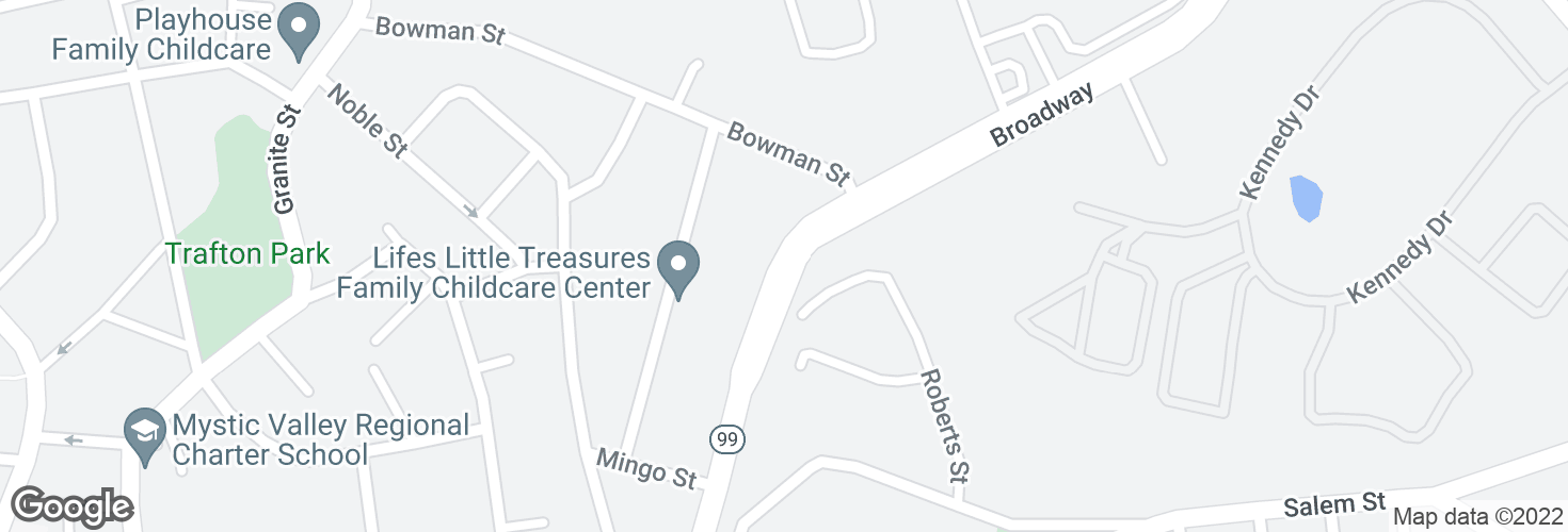 Map of 380 Broadway and surrounding area