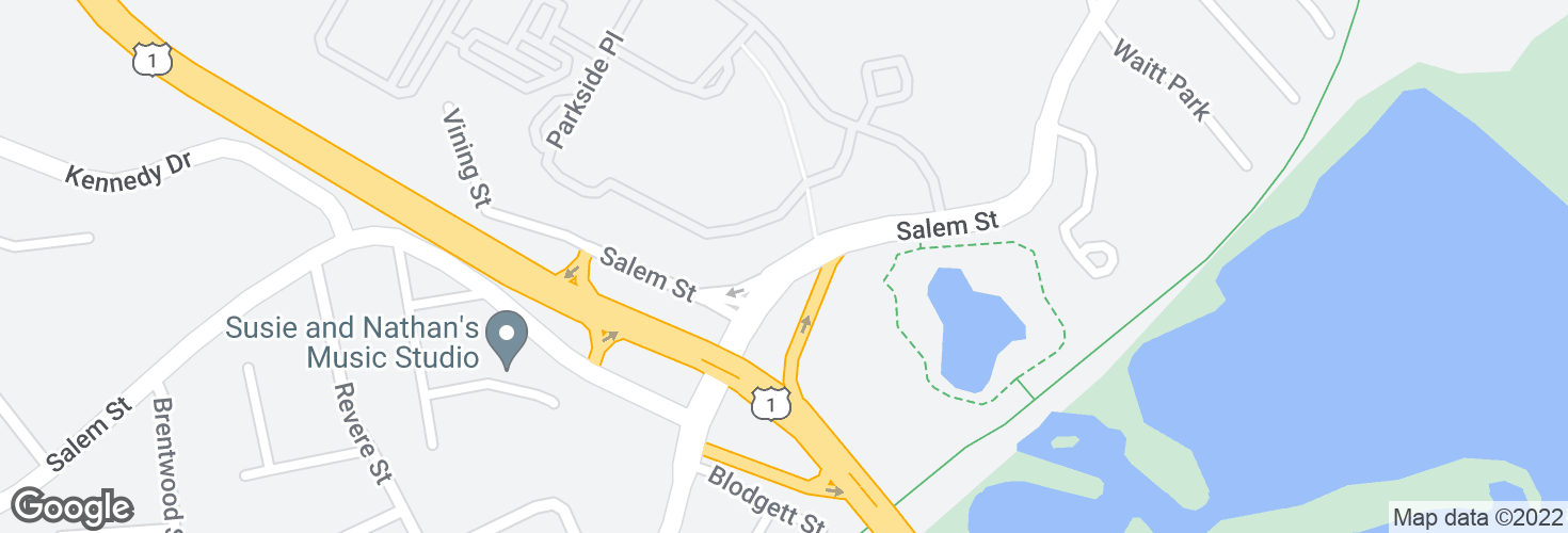 Map of Salem St @ Cutler Hwy and surrounding area