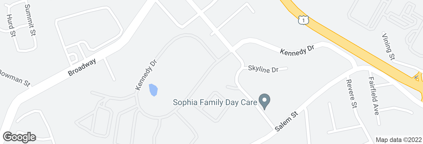 Map of Kennedy Dr @ Bldg 142 and surrounding area