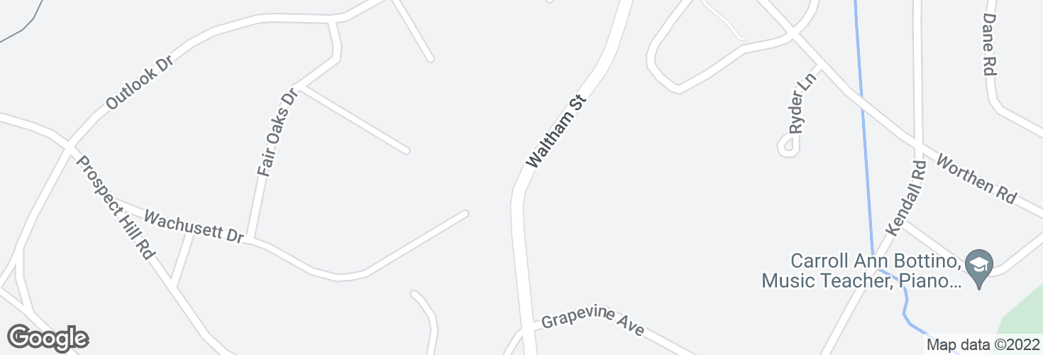Map of Waltham St @ Wachusett Dr and surrounding area