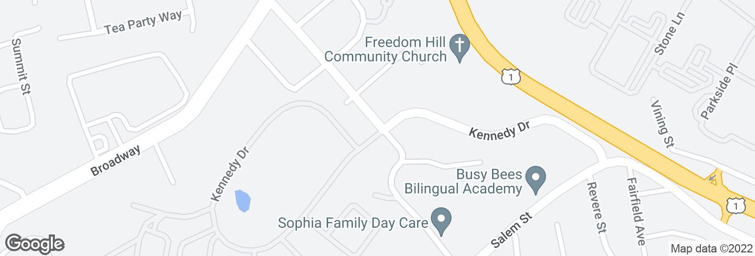 Map of Central Ave @ Kennedy Dr and surrounding area