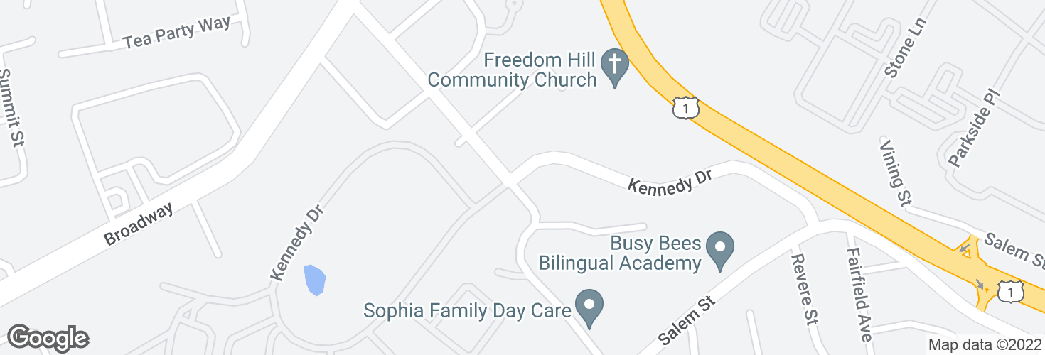 Map of Kennedy Dr @ Central Ave and surrounding area