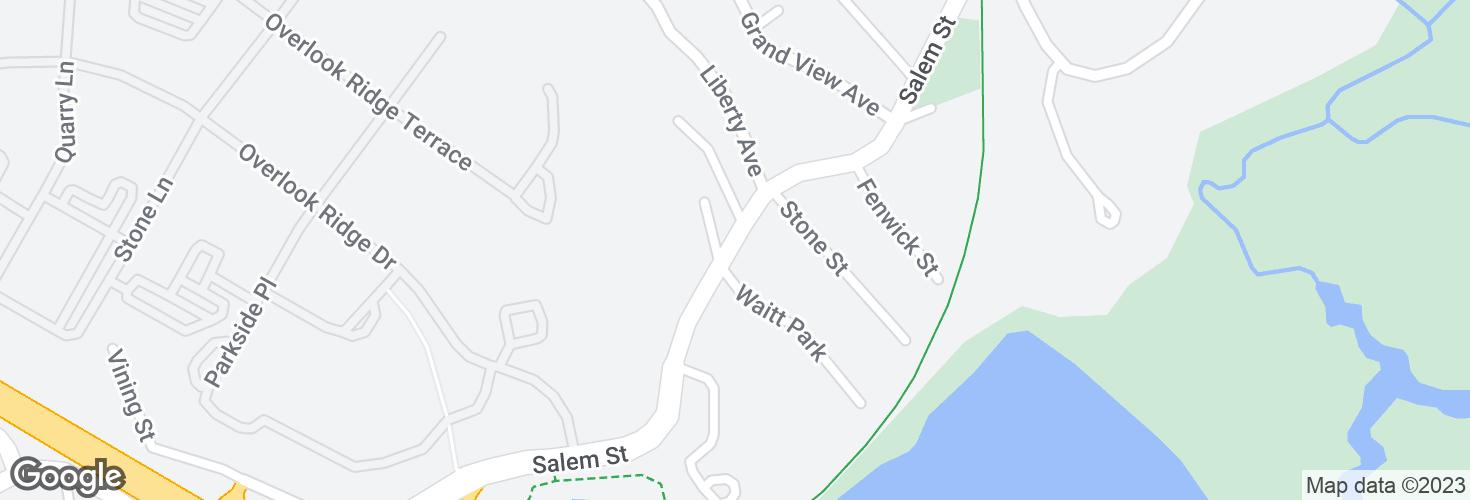 Map of Salem St @ Waitt Pk and surrounding area
