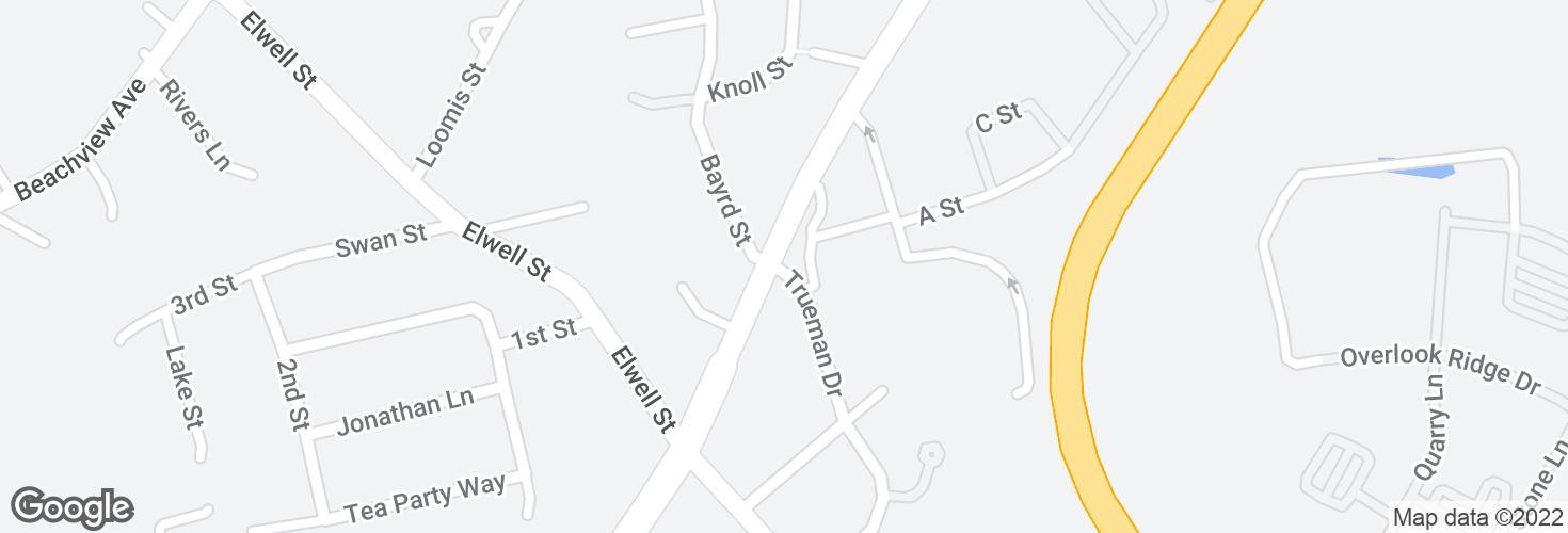 Map of Trueman Dr @ Broadway and surrounding area