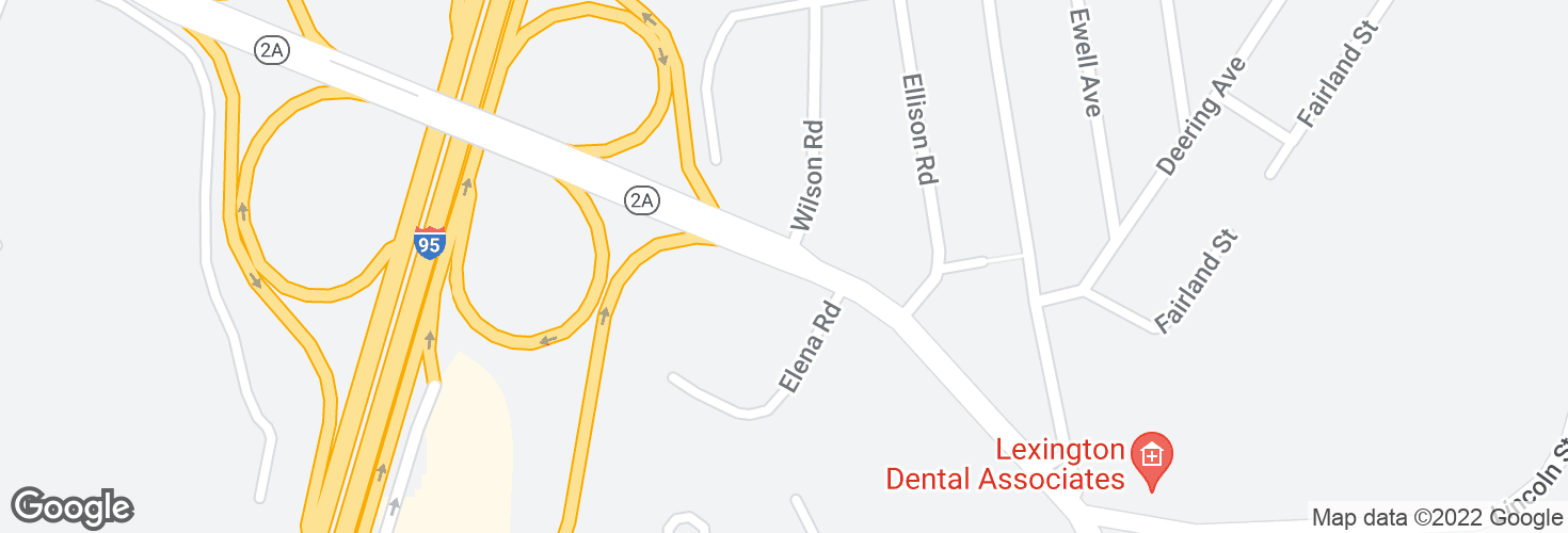 Map of Marrett Rd opp Wilson Rd and surrounding area