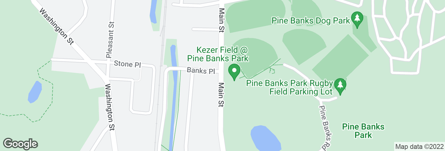 Map of Main St @ Banks Pl and surrounding area