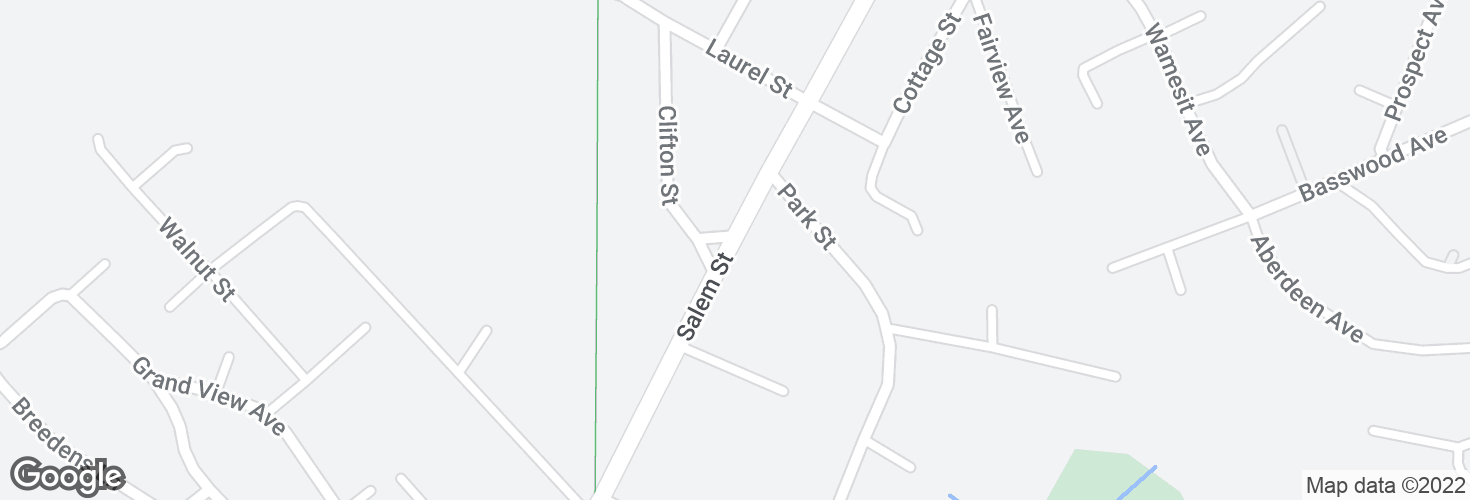Map of Salem St opp Clifton St and surrounding area