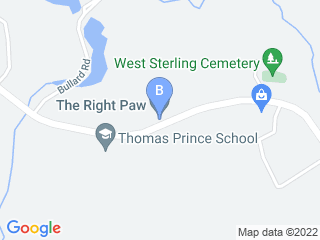 Map of The Right Paw  Dog Boarding options in Princeton | Boarding
