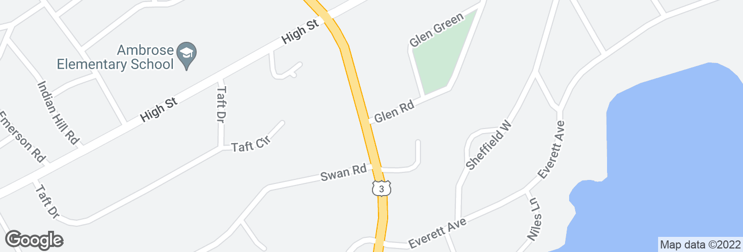 Map of Cambridge St @ Glen Rd and surrounding area