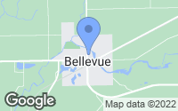 Map of Bellevue, MI