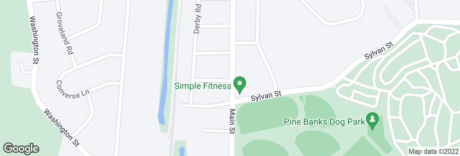 Map of Main St @ Ledgewood Ave and surrounding area