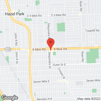 Map of Rite Aid at 1900 East 8 Mile Road, Detroit, MI 48234