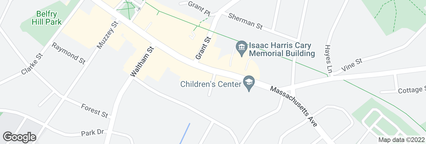 Map of 1666 Massachusetts Ave and surrounding area