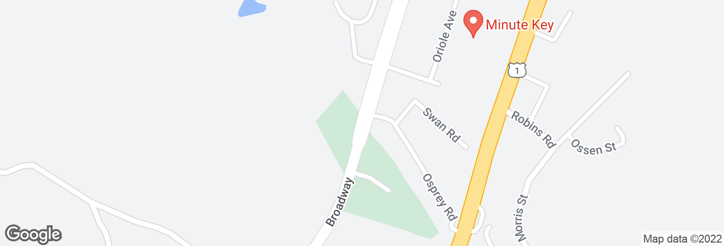Map of Broadway opp Osprey Rd and surrounding area