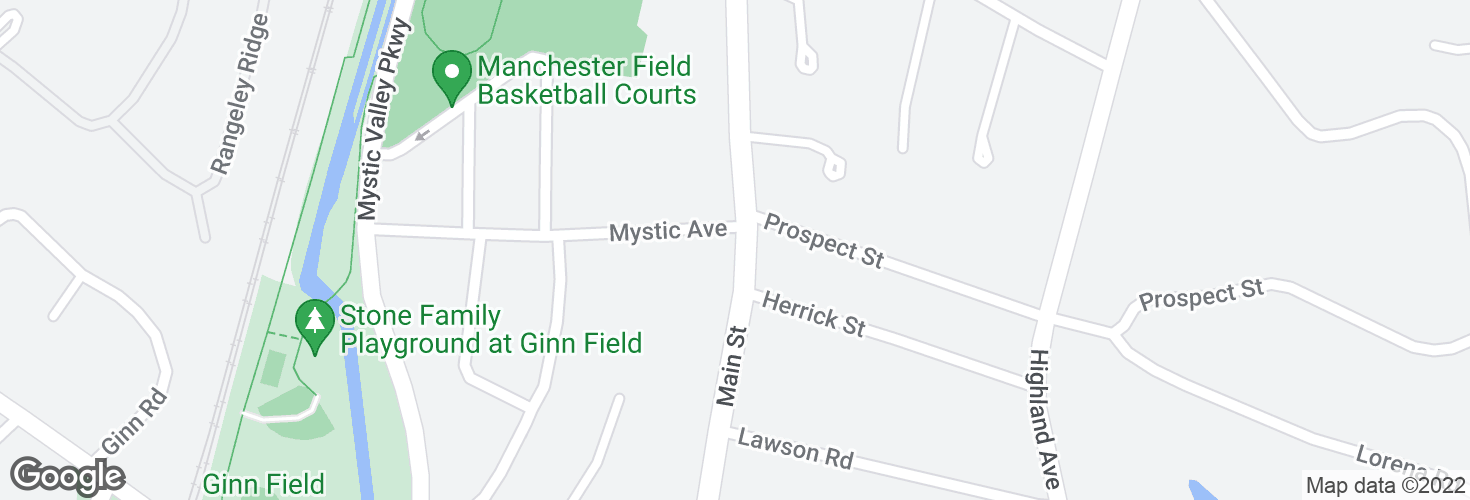 Map of Main St @ Mystic Ave and surrounding area