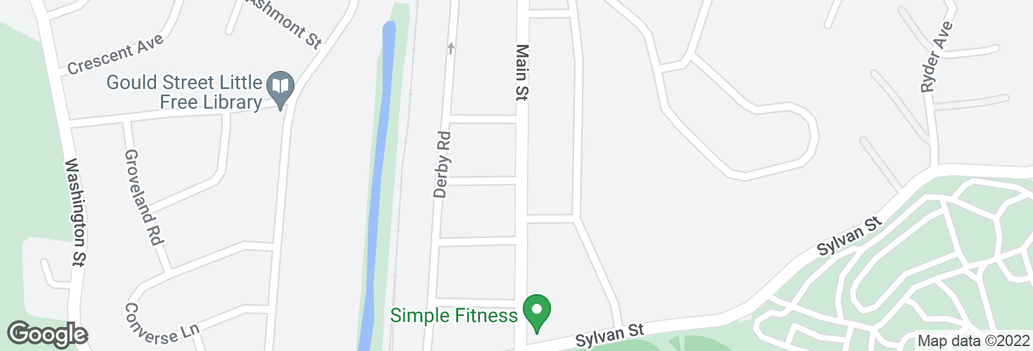 Map of Main St @ Lodge Ave and surrounding area