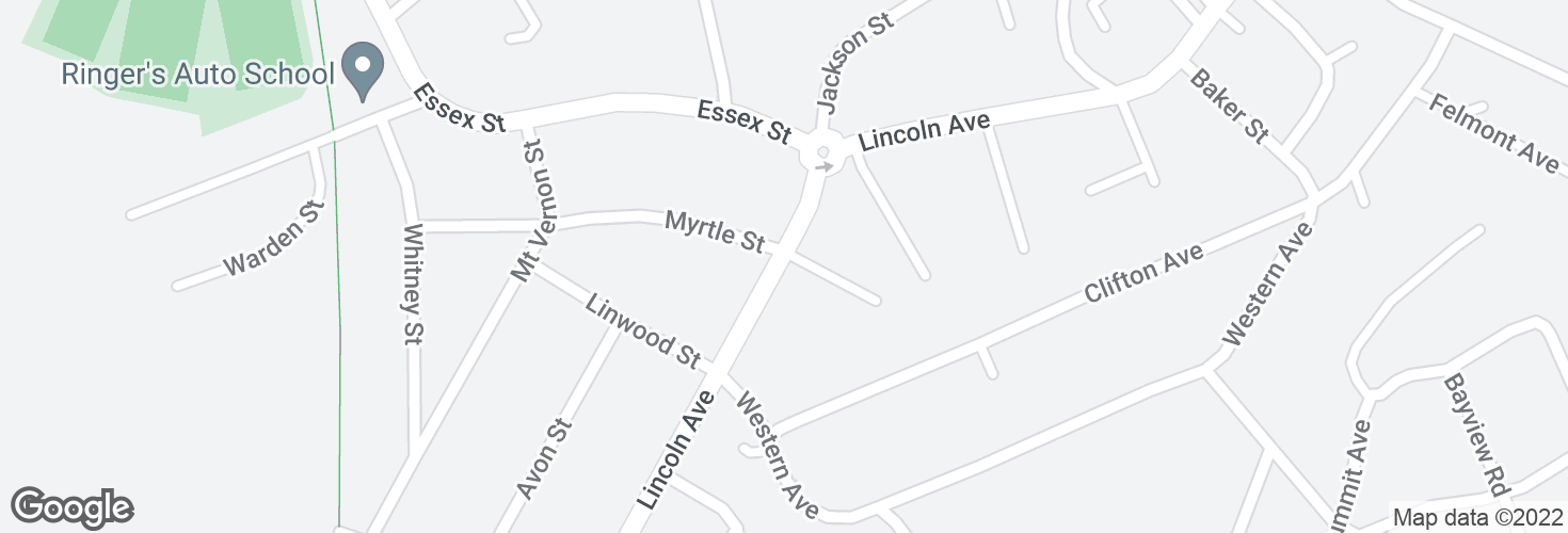 Map of Lincoln Ave @ Lincoln Ct and surrounding area