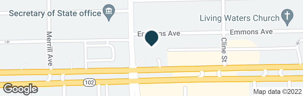 Google Map of1921 E 8 MILE RD