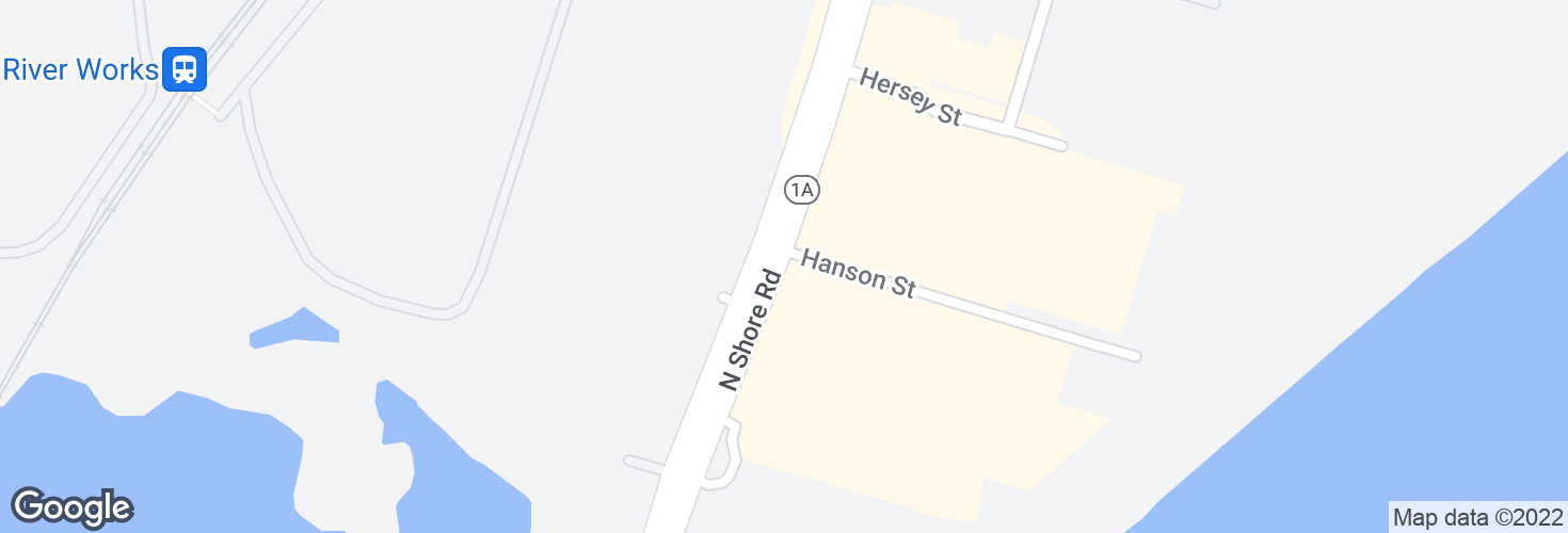 Map of Lynnway @ Hanson St and surrounding area