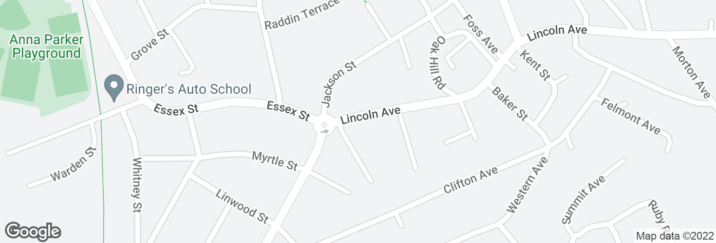 Map of Lincoln Ave @ Cliftondale Sq and surrounding area