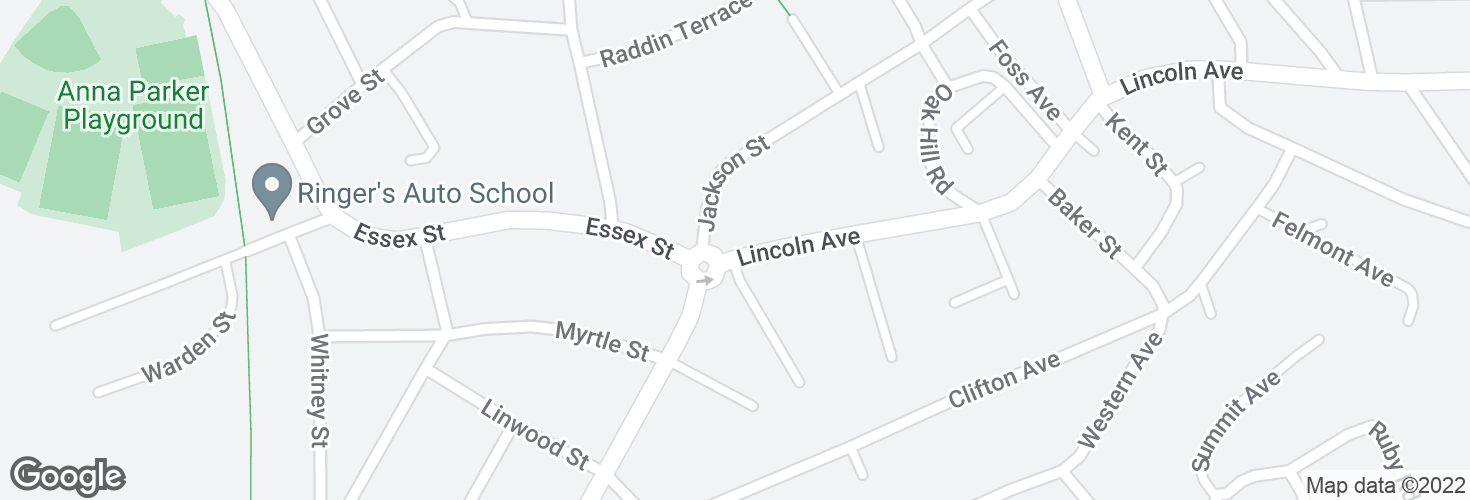 Map of Lincoln Ave @ Jackson St and surrounding area
