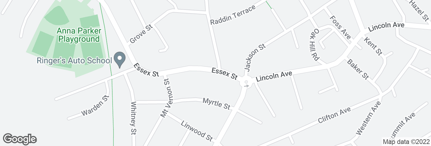 Map of Essex St opp Staaf Rd and surrounding area