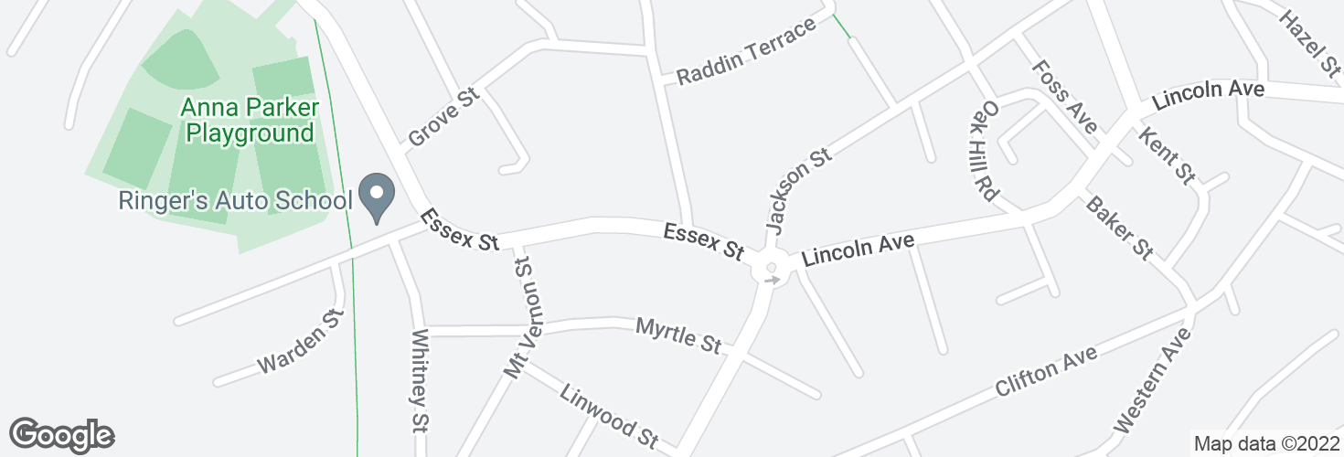 Map of Essex St @ Staaf Rd and surrounding area