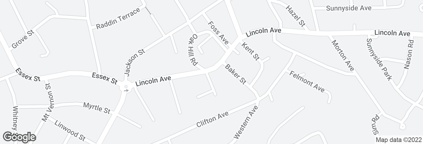 Map of Lincoln Ave @ Charlotte Rd and surrounding area
