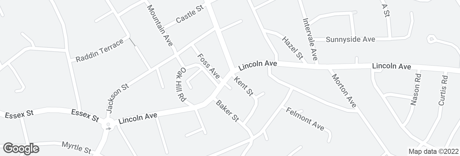 Map of Lincoln Ave opp Kent St and surrounding area