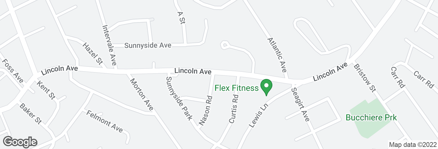 Map of Lincoln Ave @ Nason Rd and surrounding area