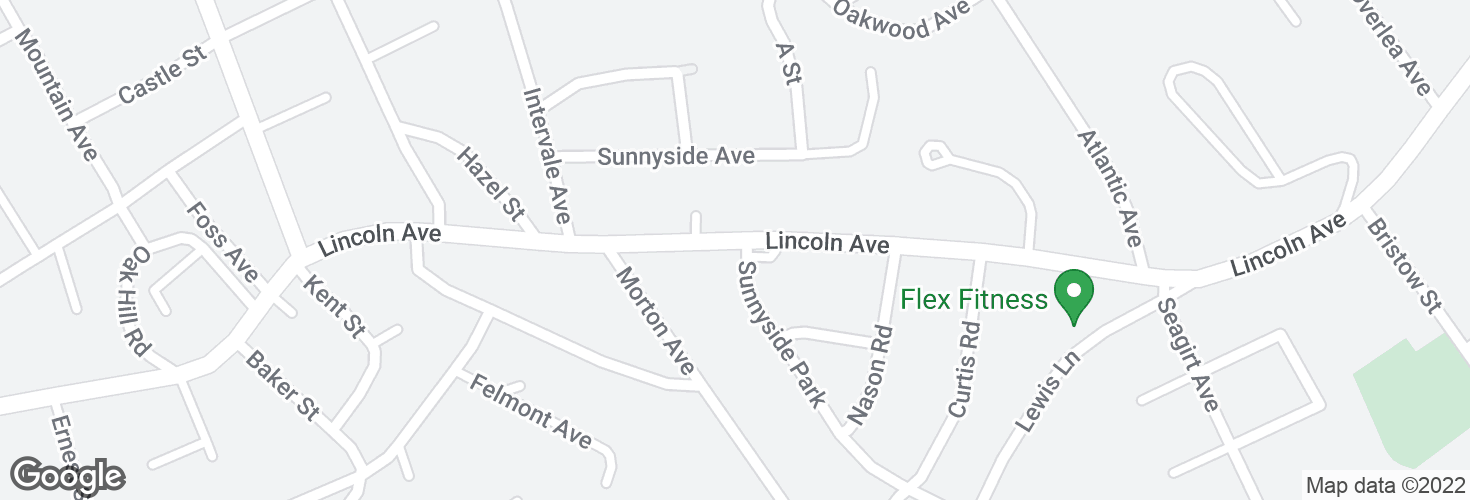 Map of Lincoln Ave @ Sunnyside Pk and surrounding area