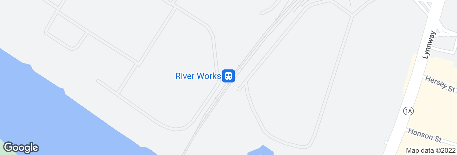 Map of River Works and surrounding area