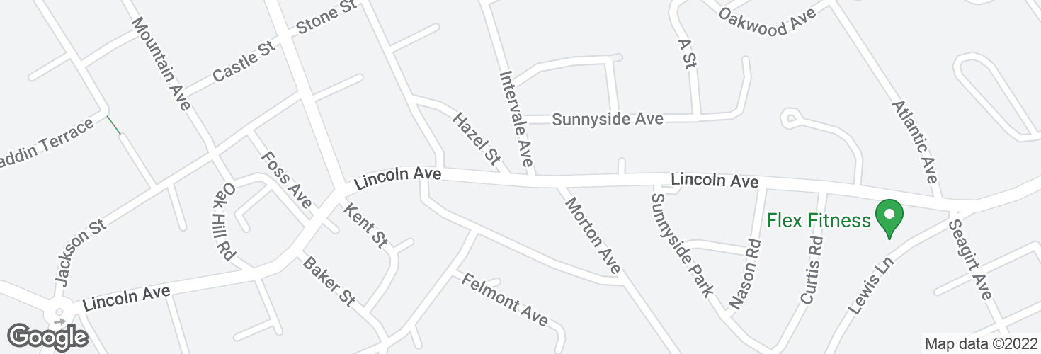 Map of Lincoln Ave @ Intervale Ave and surrounding area