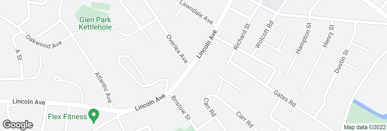 Map of Lincoln Ave opp Overlea Ave and surrounding area