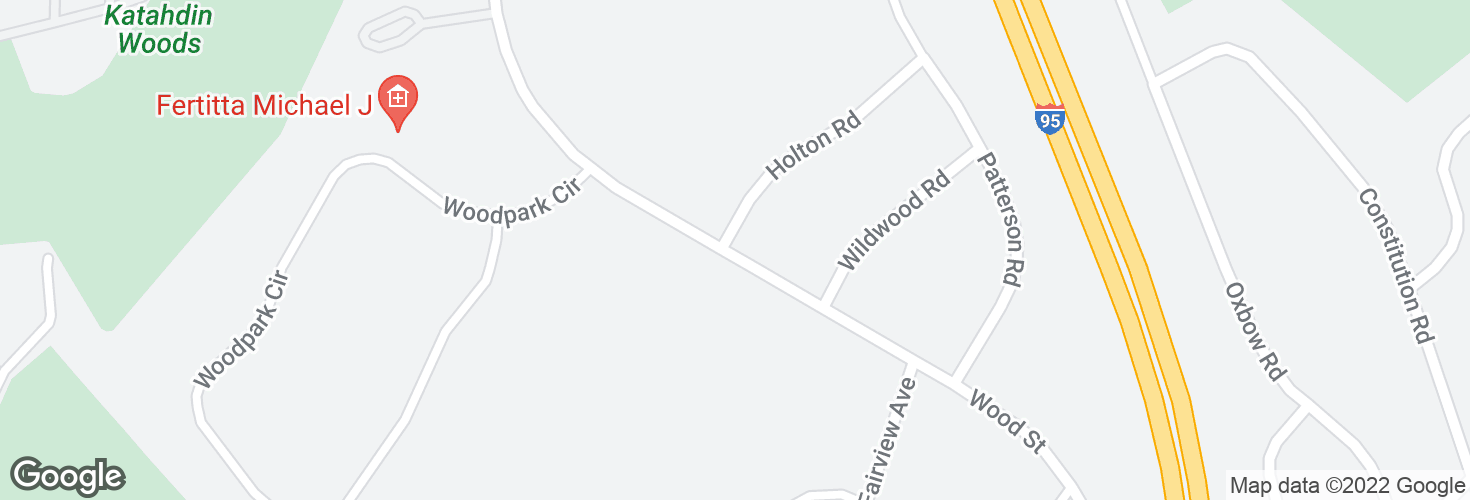 Map of Wood St @ Holton Rd and surrounding area