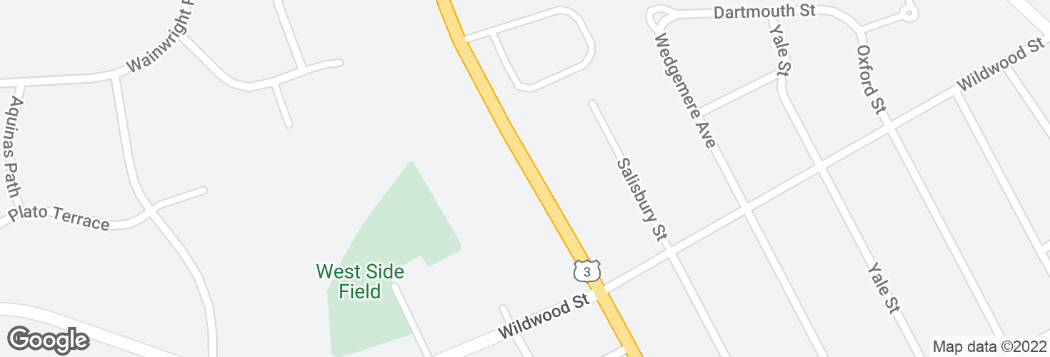 Map of 242 Cambridge St and surrounding area