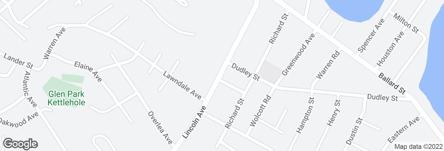 Map of Lincoln Ave @ Bates St and surrounding area