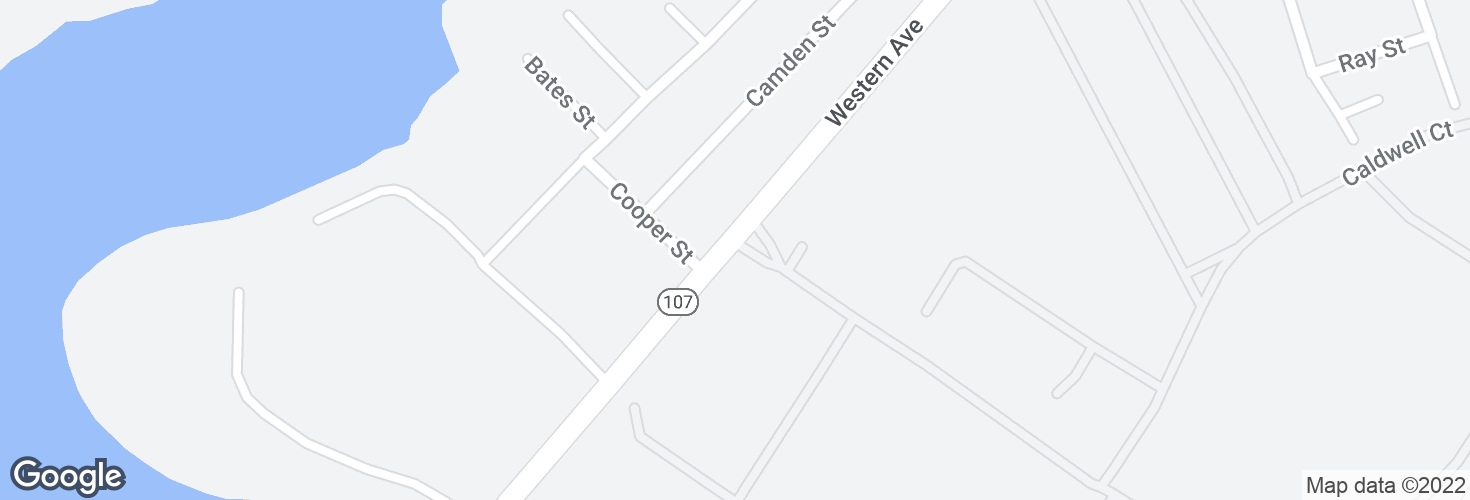 Map of 1067 Western Ave and surrounding area