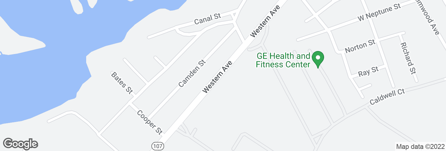 Map of Western Ave opp Lynn Garage and surrounding area