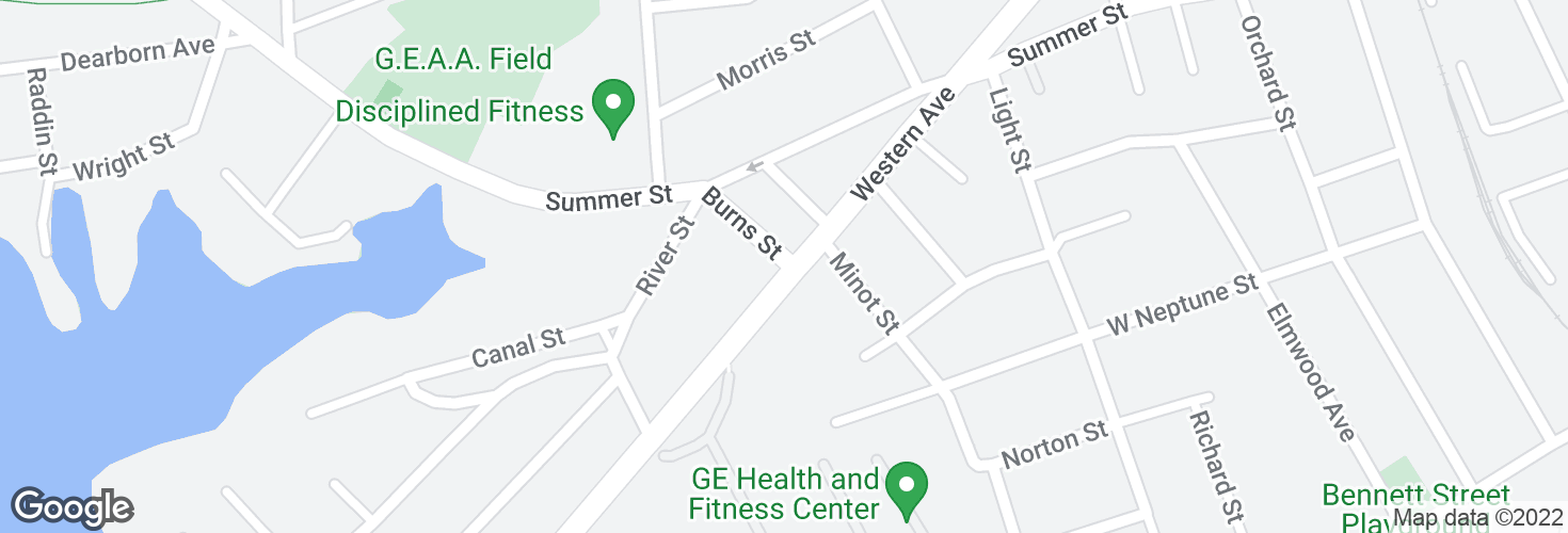 Map of Burns St @ Western Ave and surrounding area