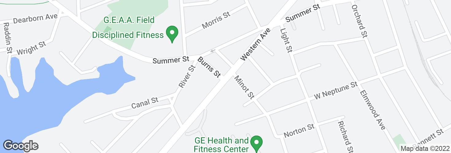 Map of Western Ave @ Burns St and surrounding area