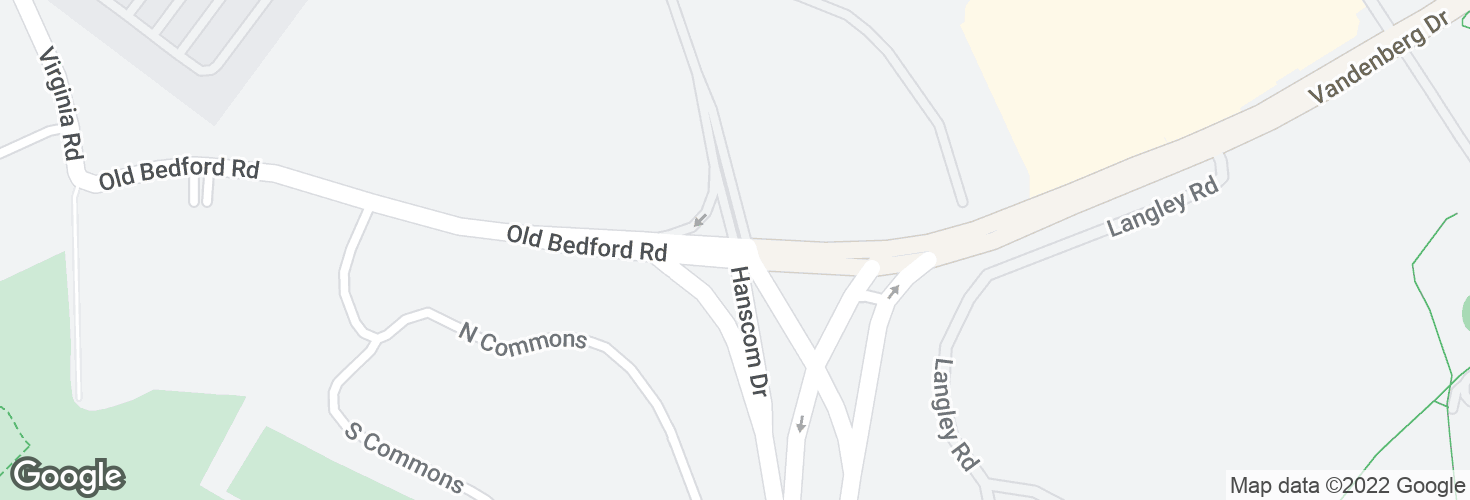 Map of Hanscom Field Dr @ Old Bedford Rd and surrounding area